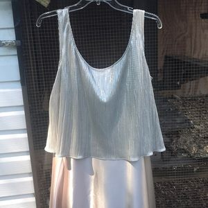 Cachet Dresses - Beautiful silver/gold /champagne cocktail dress